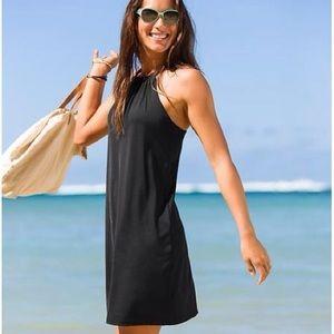 Athleta   Black Kokomo Halter Top Swim Dress Sz S